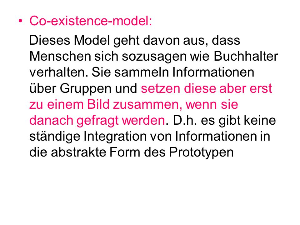 Co-existence-model: