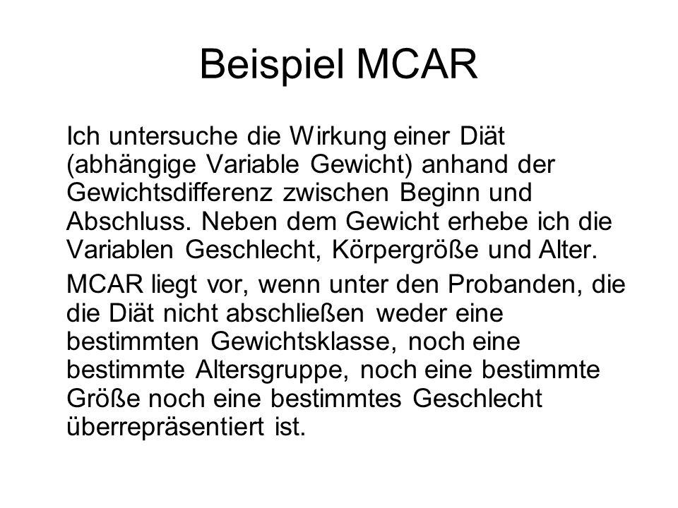 Beispiel MCAR
