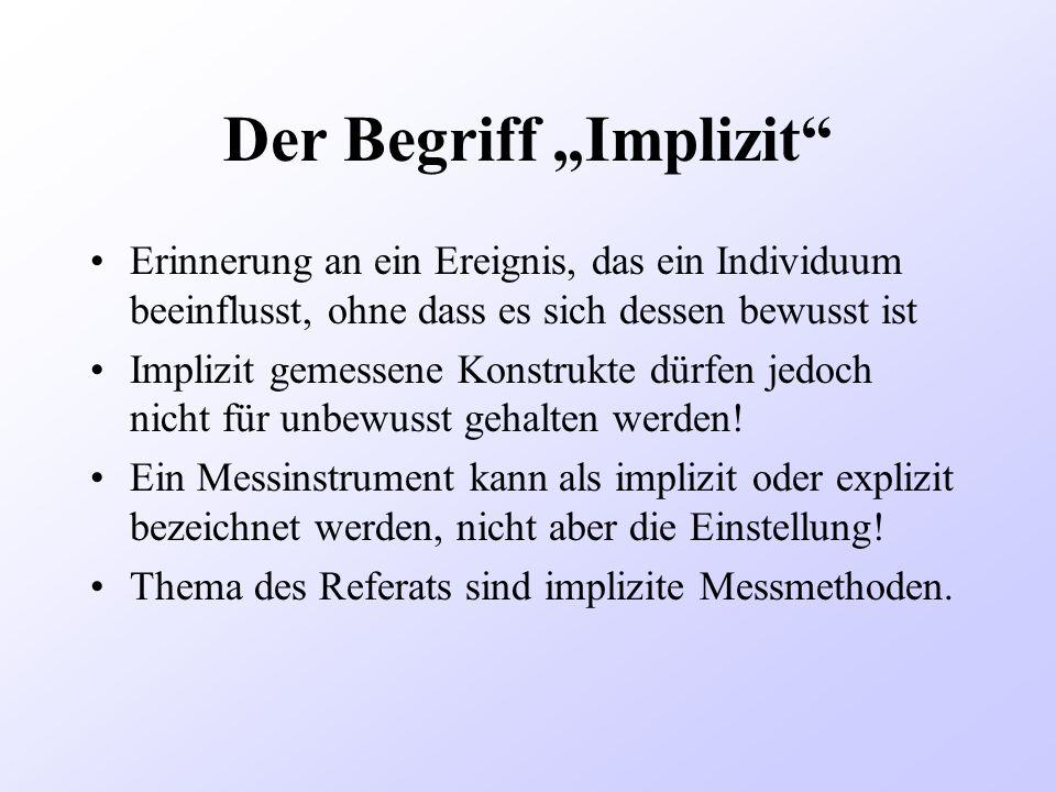 """Der Begriff """"Implizit"""