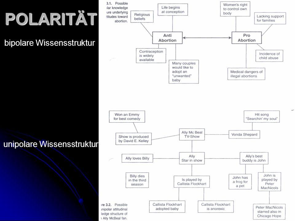 POLARITÄT bipolare Wissensstruktur unipolare Wissensstruktur