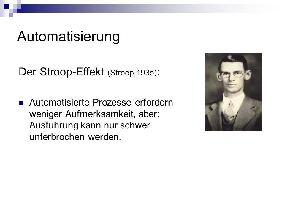 Automatisierung Der Stroop-Effekt (Stroop,1935):