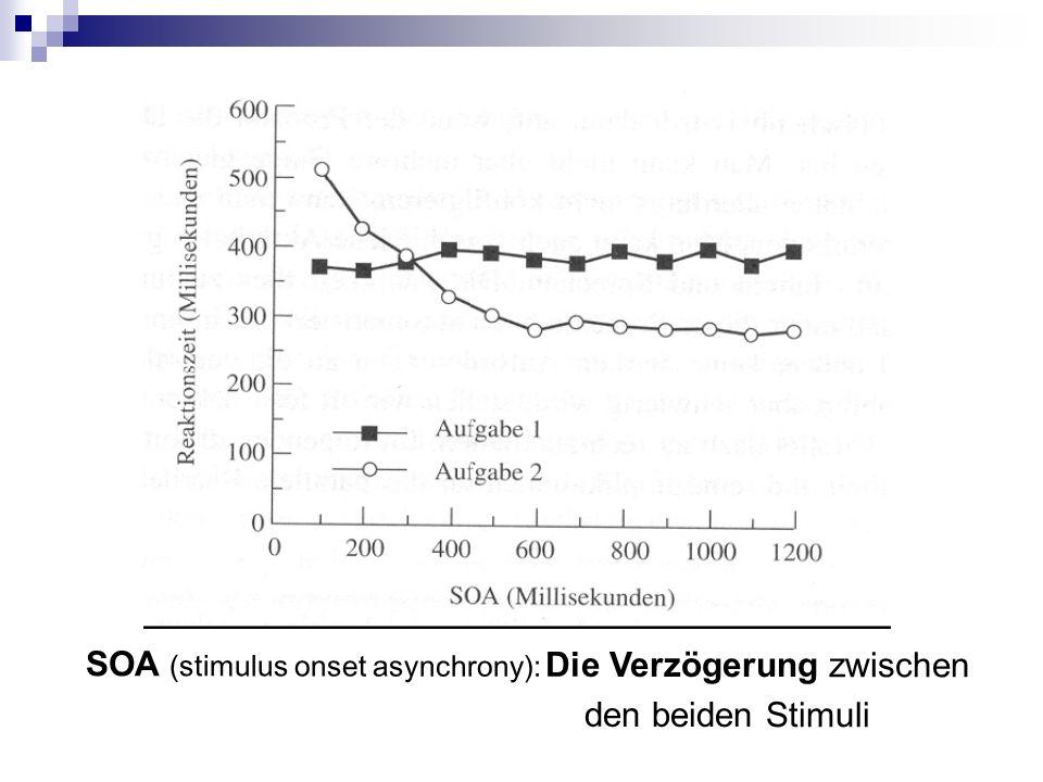 SOA (stimulus onset asynchrony): Die Verzögerung zwischen