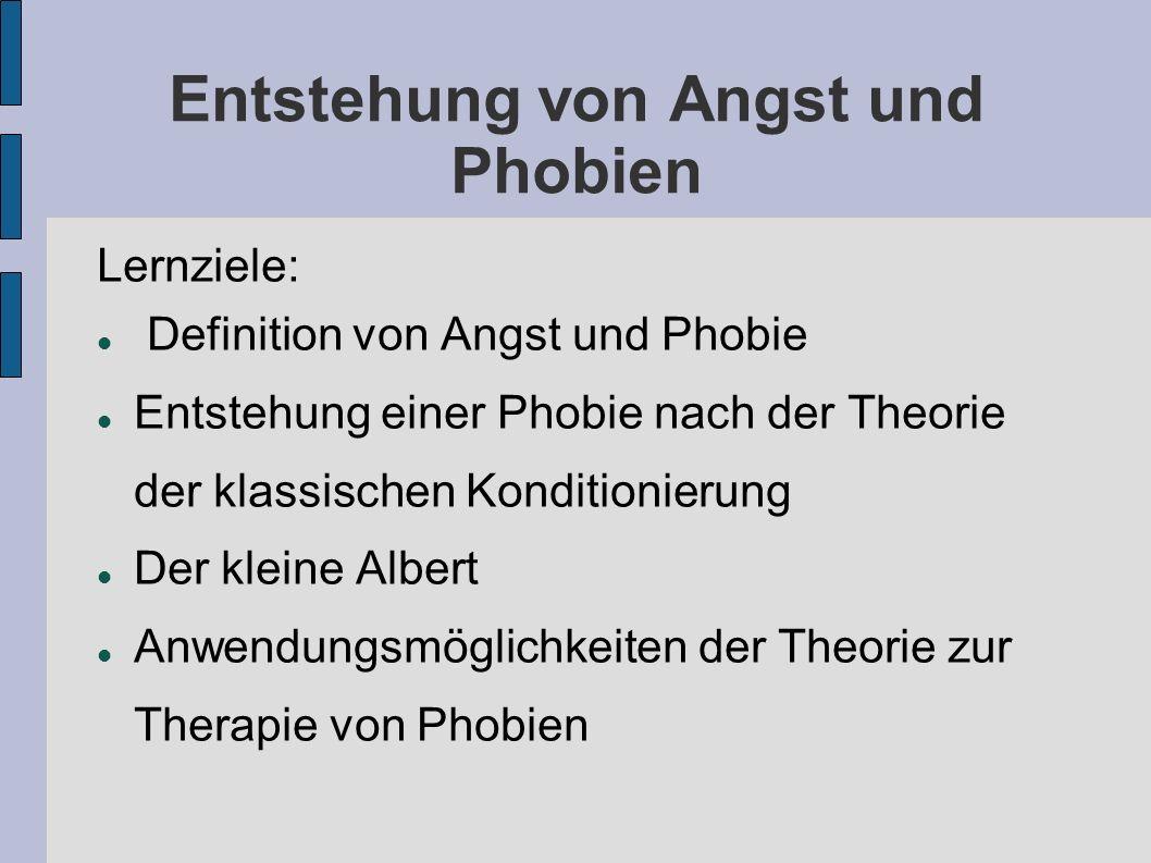 Entstehung von Angst und Phobien