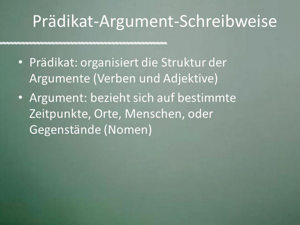 Prädikat-Argument-Schreibweise