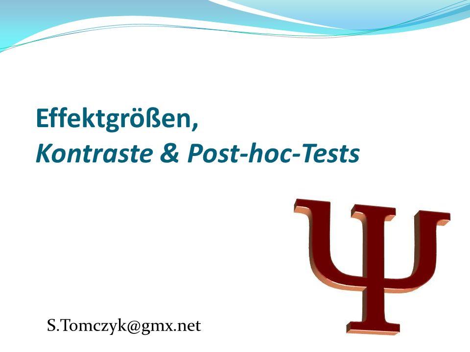 Effektgrößen, Kontraste & Post-hoc-Tests