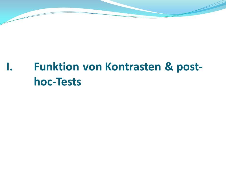 Funktion von Kontrasten & post-hoc-Tests