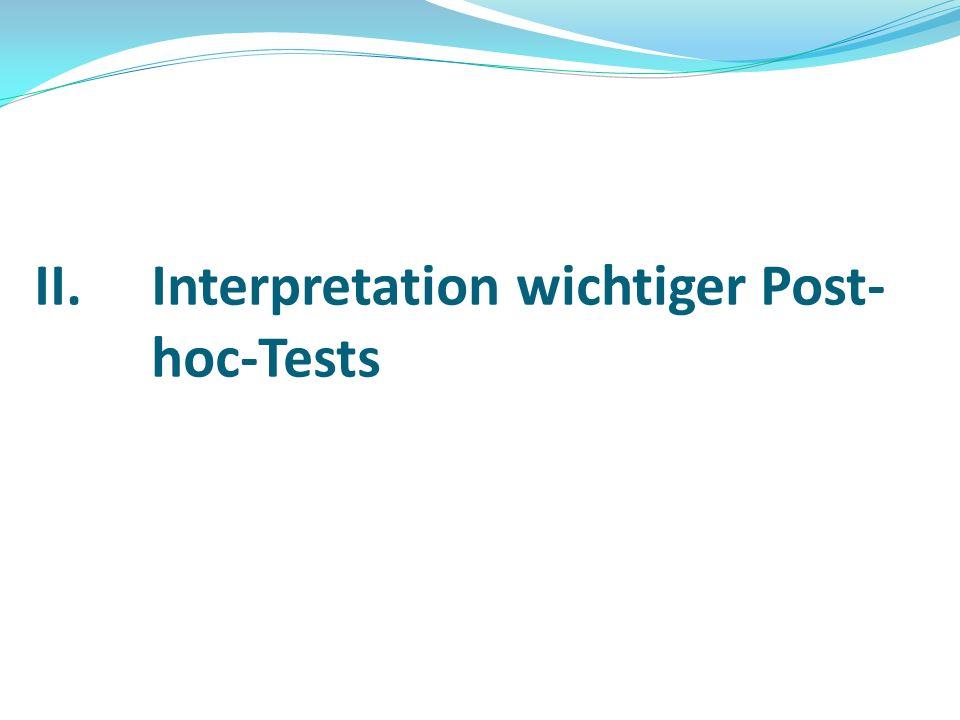 Interpretation wichtiger Post-hoc-Tests