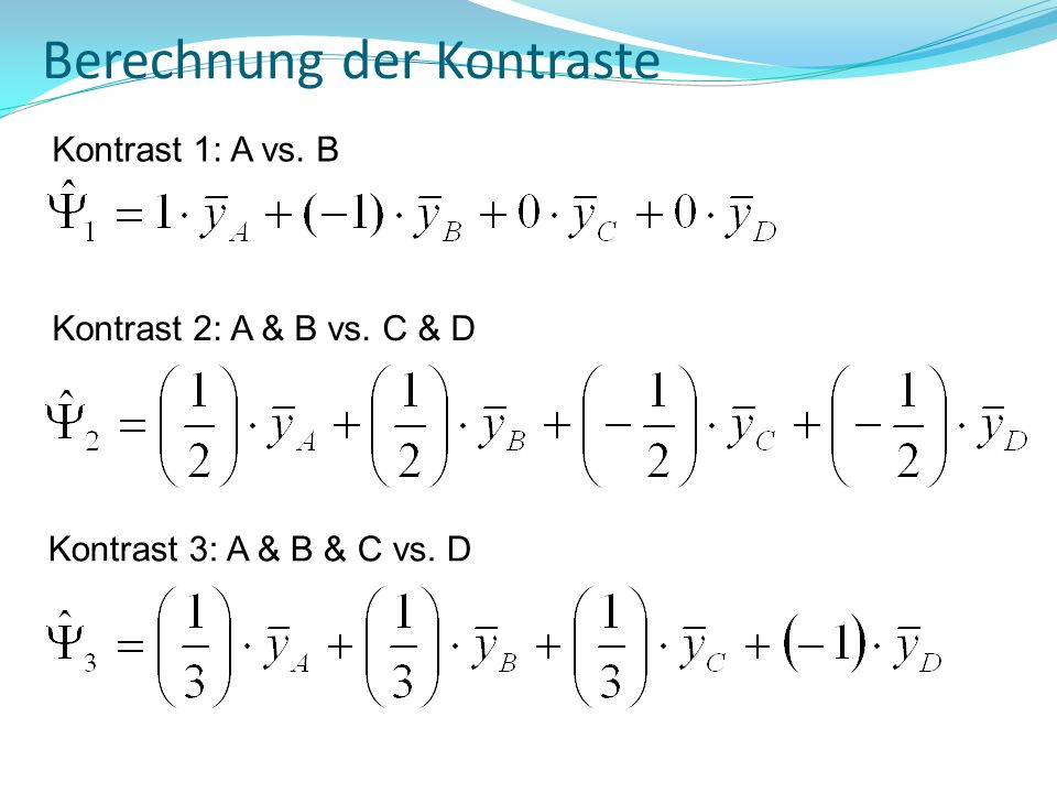 Berechnung der Kontraste