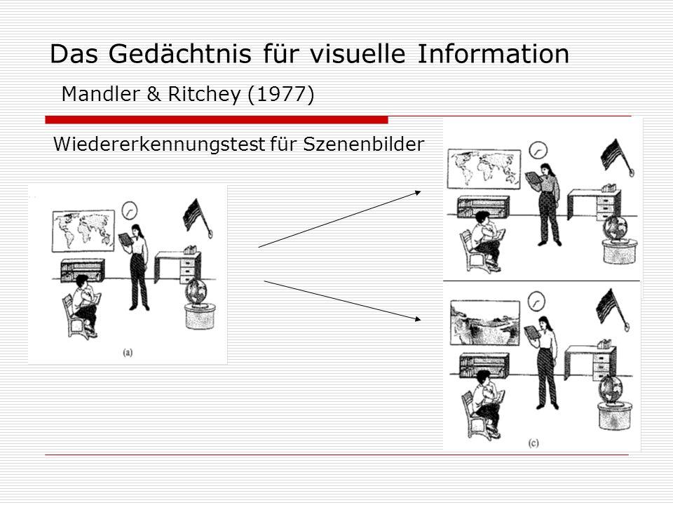 Das Gedächtnis für visuelle Information Mandler & Ritchey (1977)