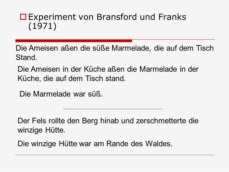 Experiment von Bransford und Franks (1971)