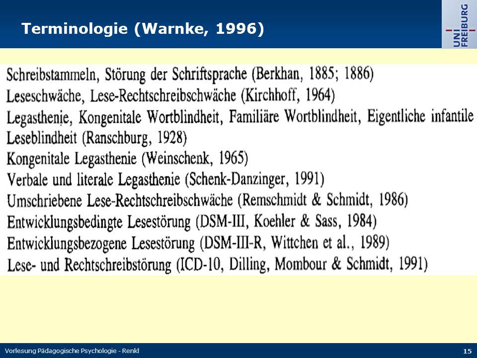 Terminologie (Warnke, 1996)