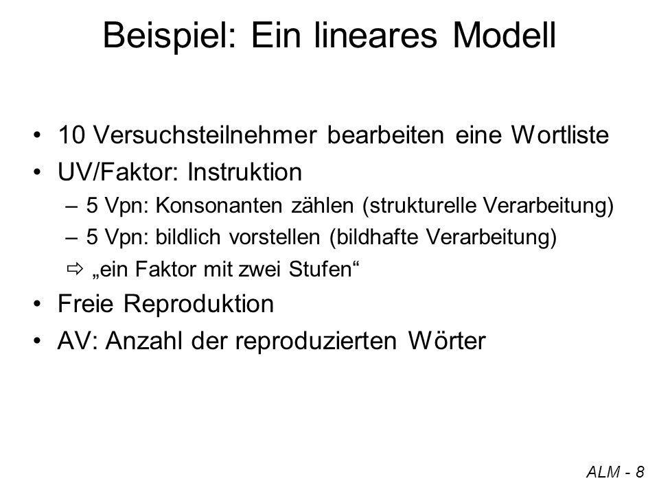 Beispiel: Ein lineares Modell