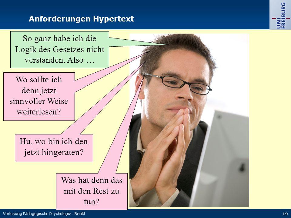 Anforderungen Hypertext