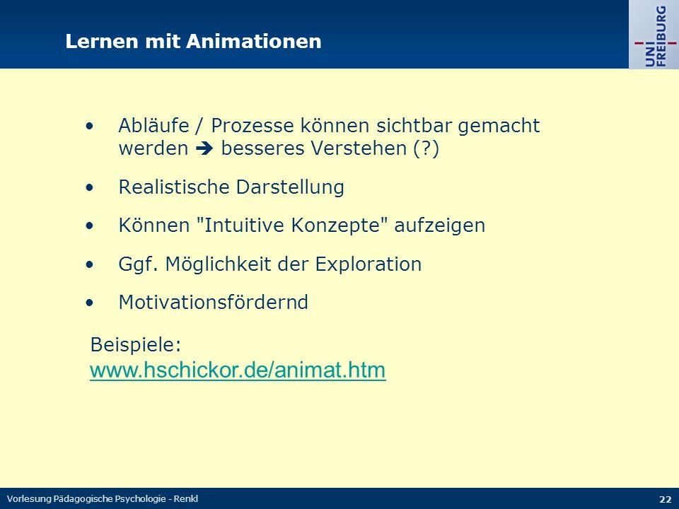 Lernen mit Animationen
