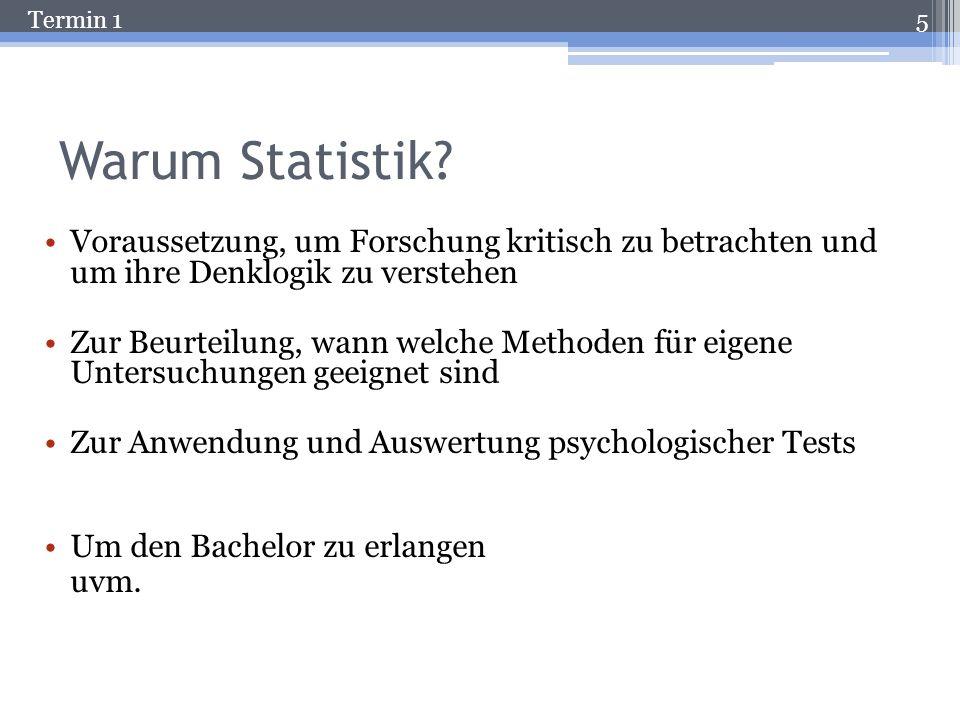 Warum Statistik Voraussetzung, um Forschung kritisch zu betrachten und um ihre Denklogik zu verstehen.