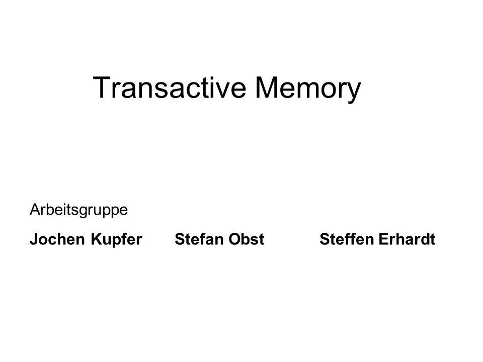 Arbeitsgruppe Jochen Kupfer Stefan Obst Steffen Erhardt