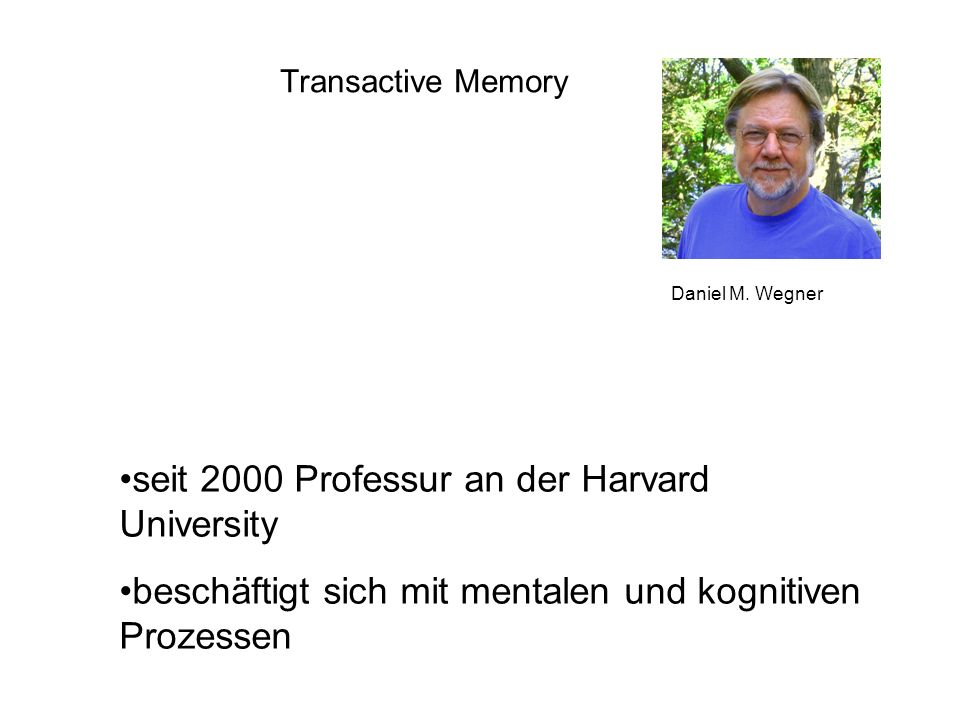 seit 2000 Professur an der Harvard University