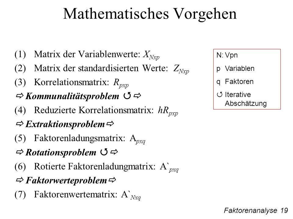 Mathematisches Vorgehen
