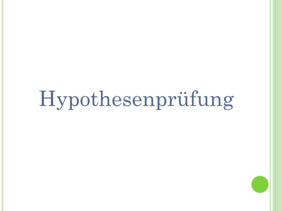 Hypothesenprüfung