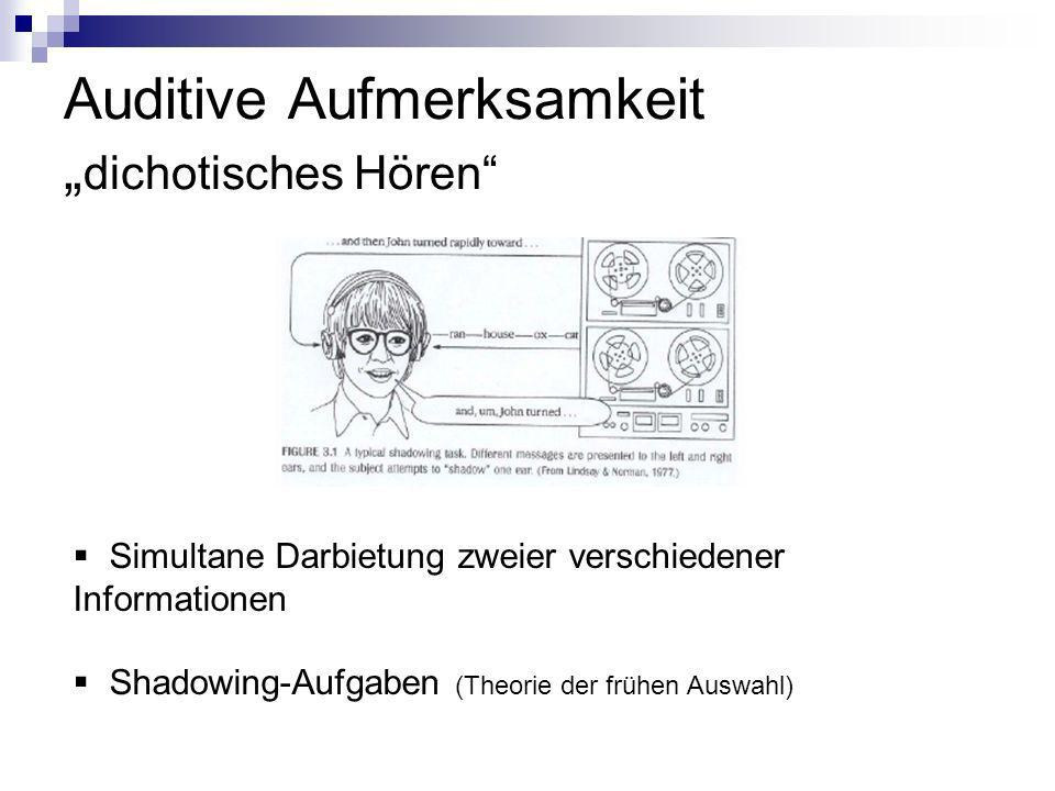 """Auditive Aufmerksamkeit """"dichotisches Hören"""