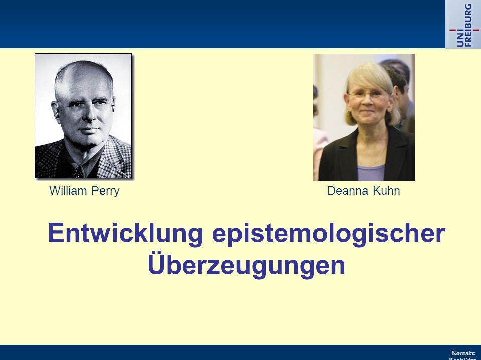 Entwicklung epistemologischer Überzeugungen
