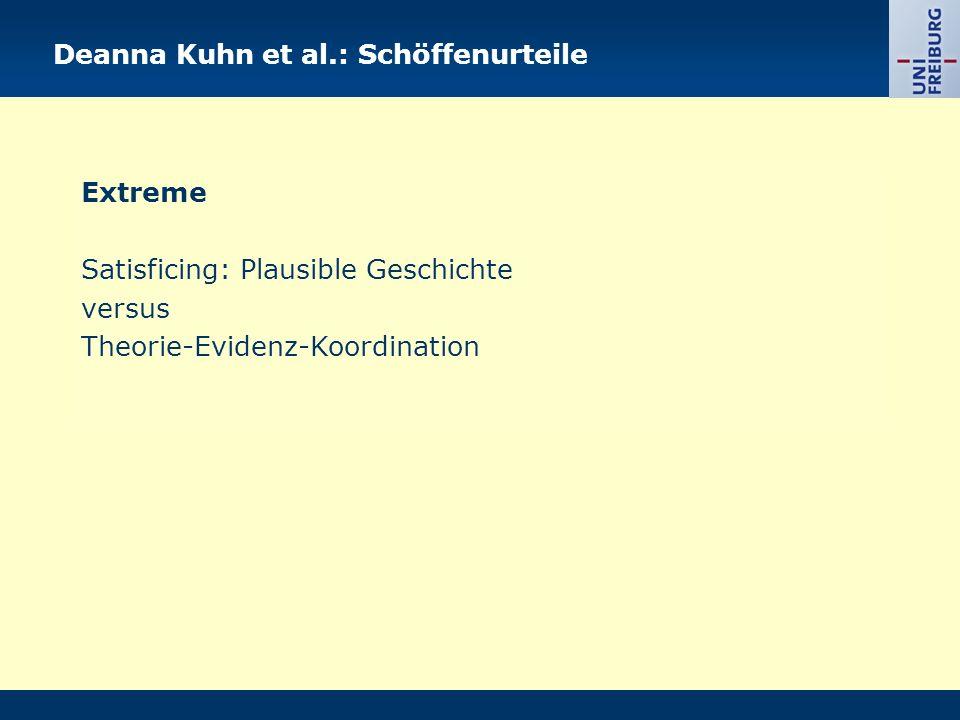Deanna Kuhn et al.: Schöffenurteile