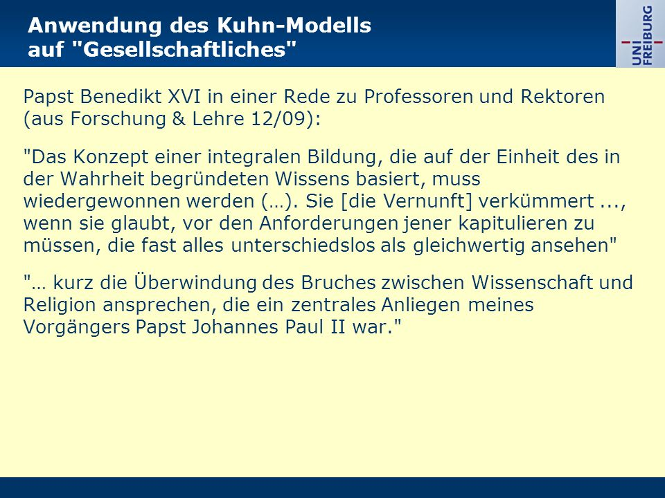 Anwendung des Kuhn-Modells auf Gesellschaftliches