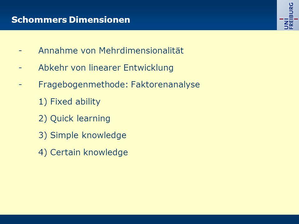 Schommers Dimensionen