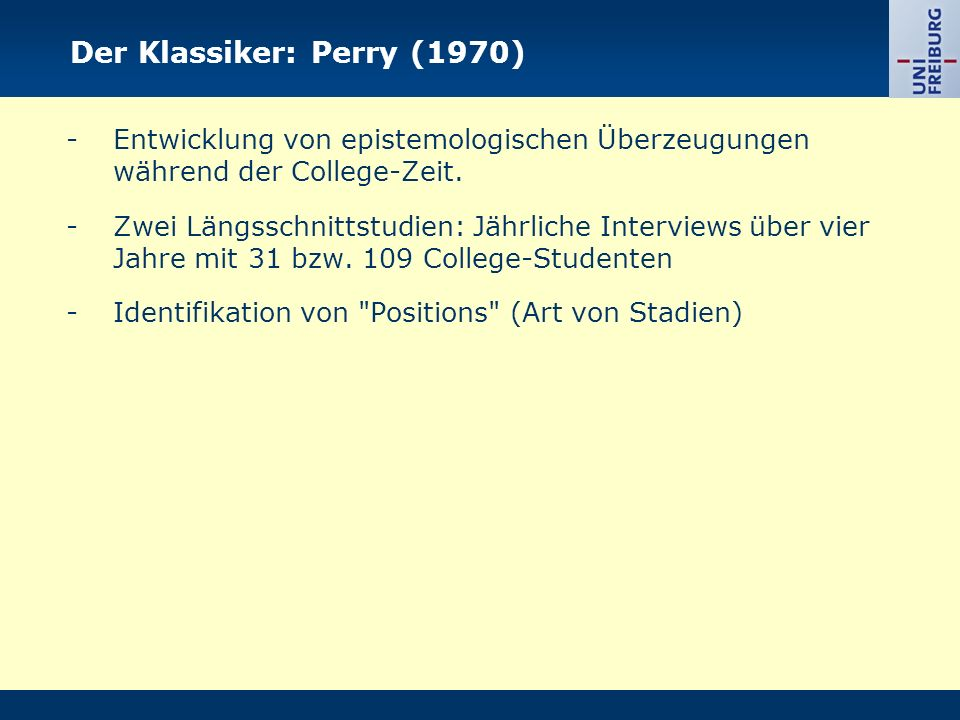 Der Klassiker: Perry (1970)