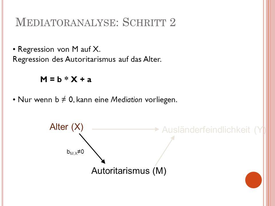 Mediatoranalyse: Schritt 2