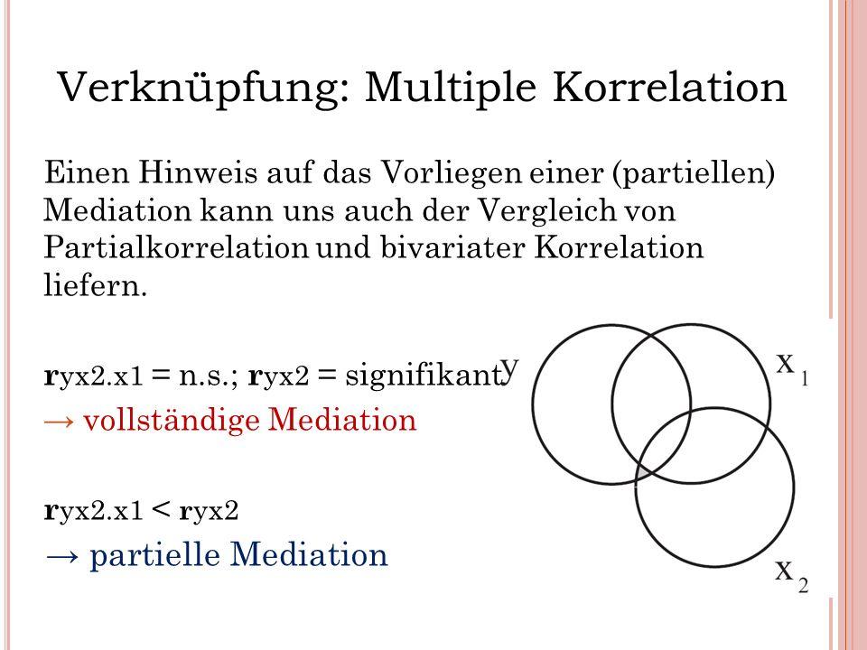 Verknüpfung: Multiple Korrelation