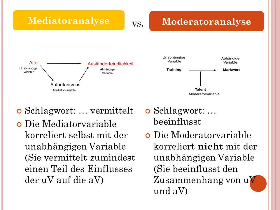 Mediatoranalyse Moderatoranalyse