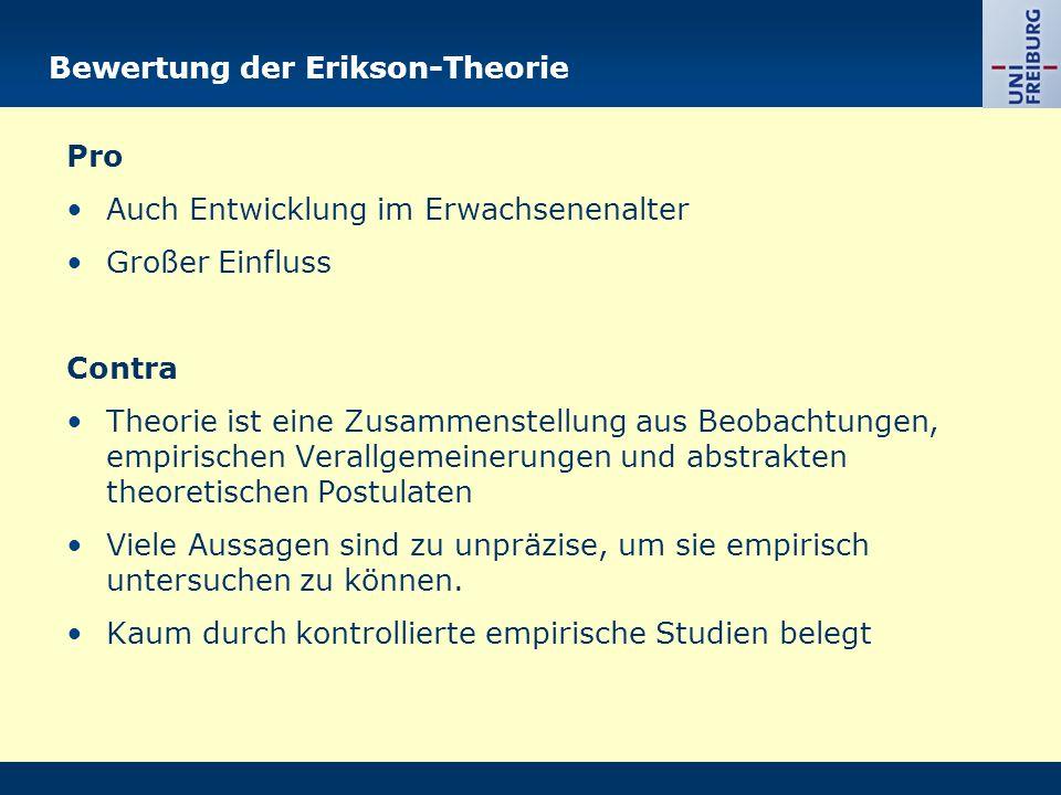 Bewertung der Erikson-Theorie
