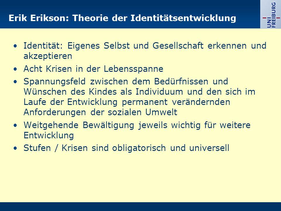 Erik Erikson: Theorie der Identitätsentwicklung