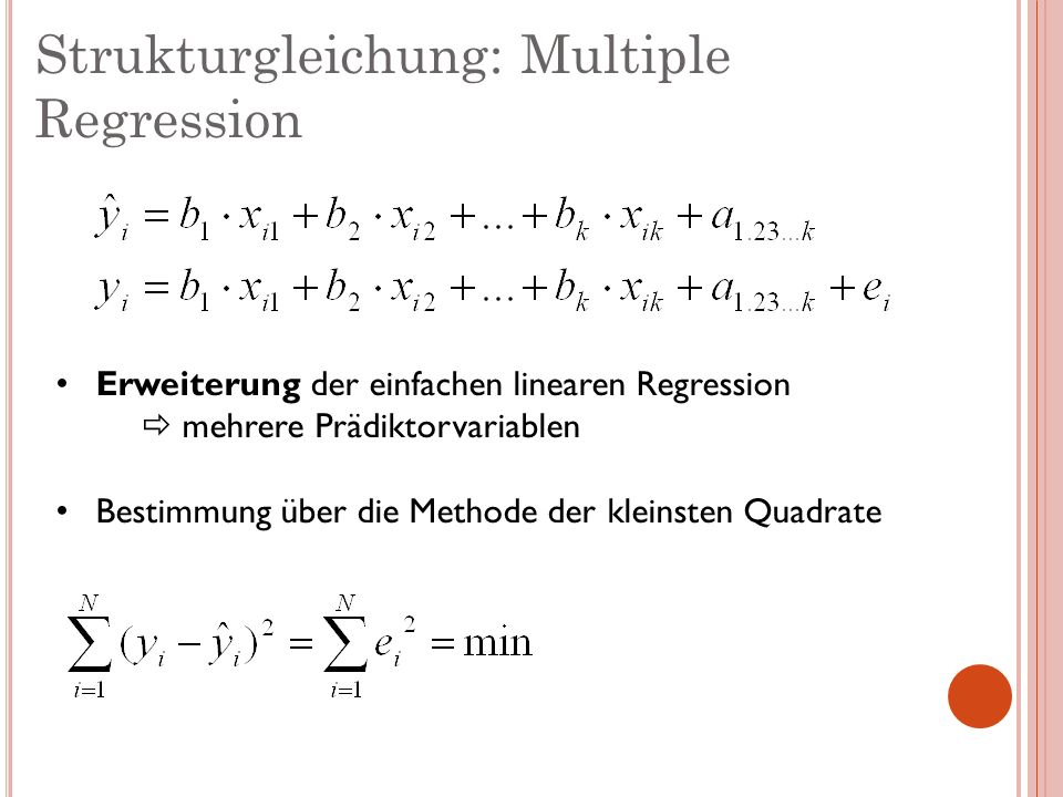 Strukturgleichung: Multiple Regression