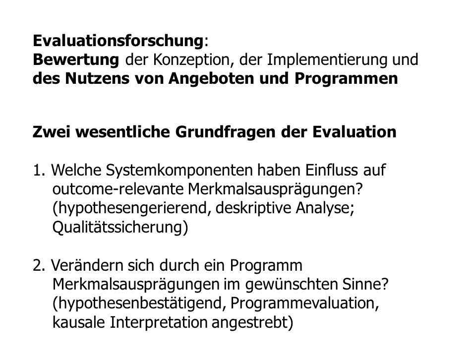 Evaluationsforschung: