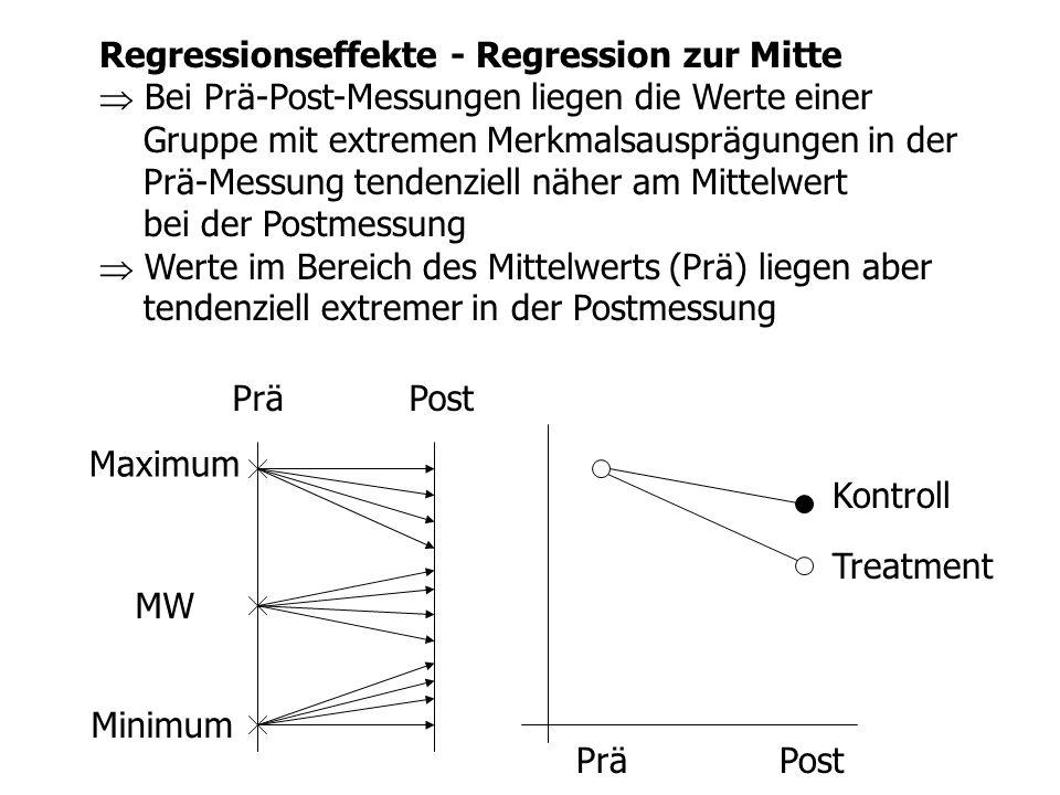 Regressionseffekte - Regression zur Mitte