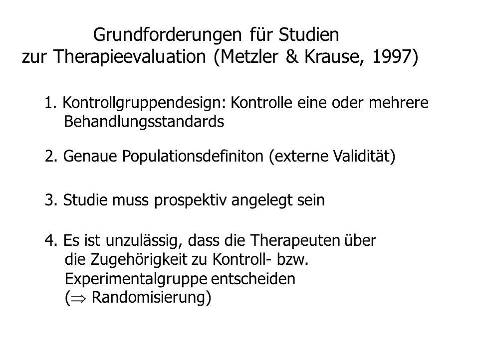 Grundforderungen für Studien