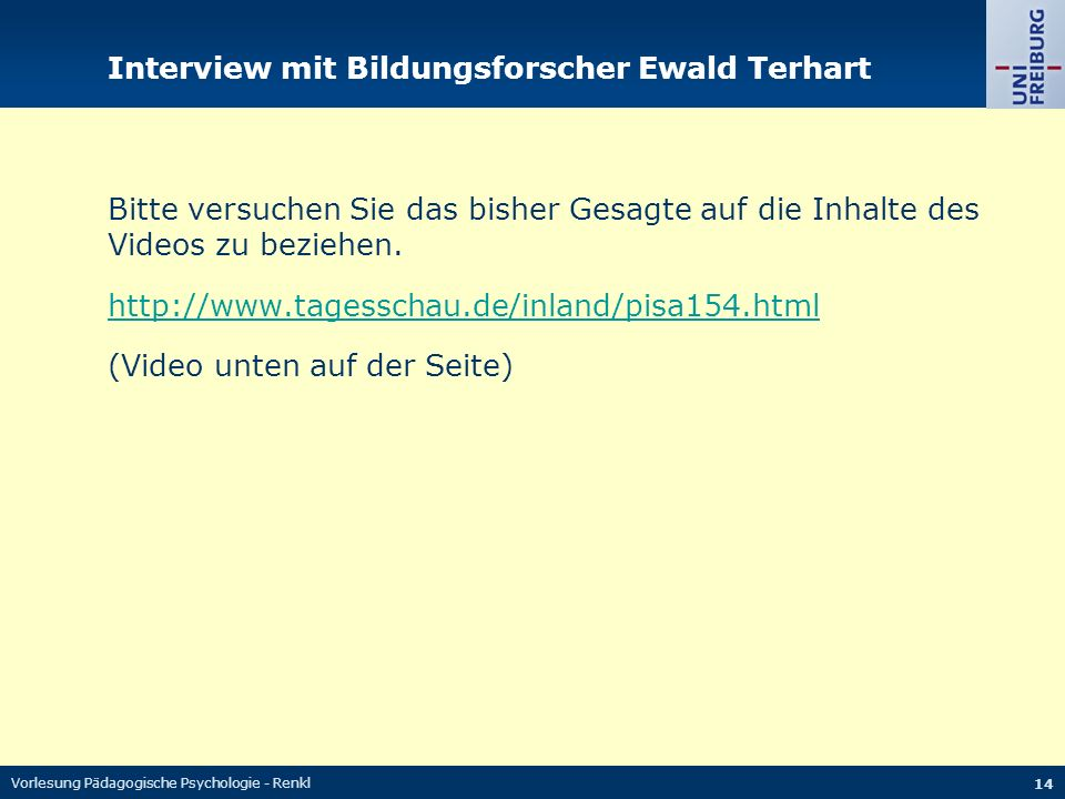 Interview mit Bildungsforscher Ewald Terhart