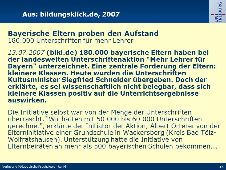 Bayerische Eltern proben den Aufstand