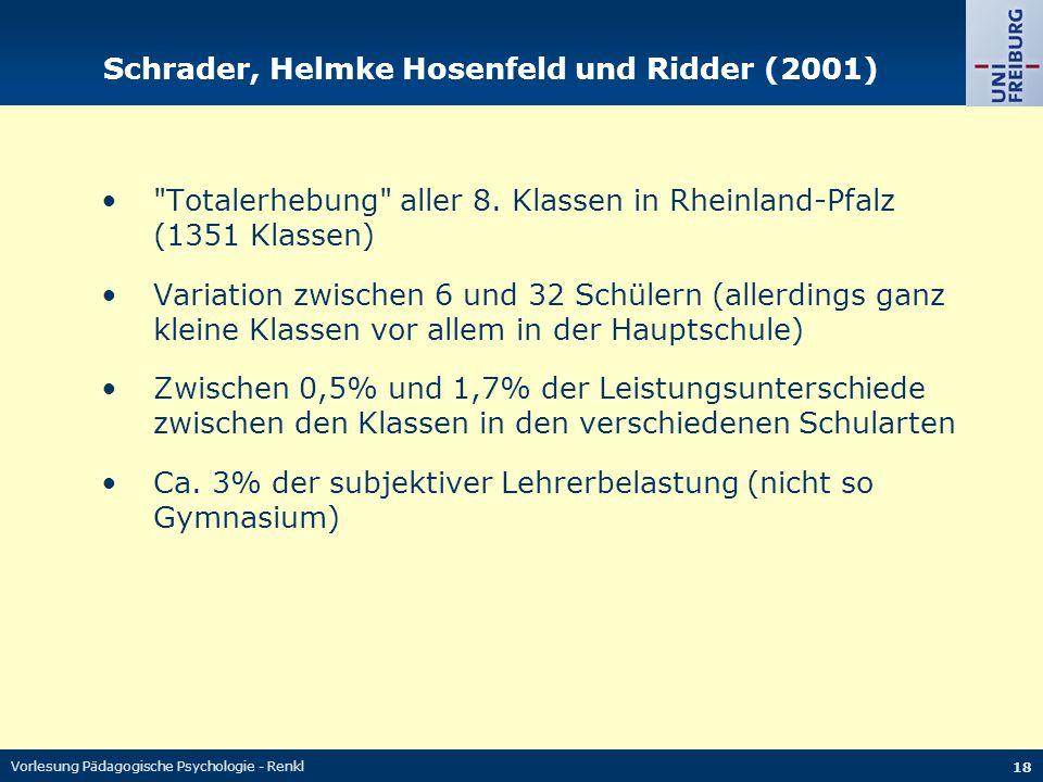 Schrader, Helmke Hosenfeld und Ridder (2001)