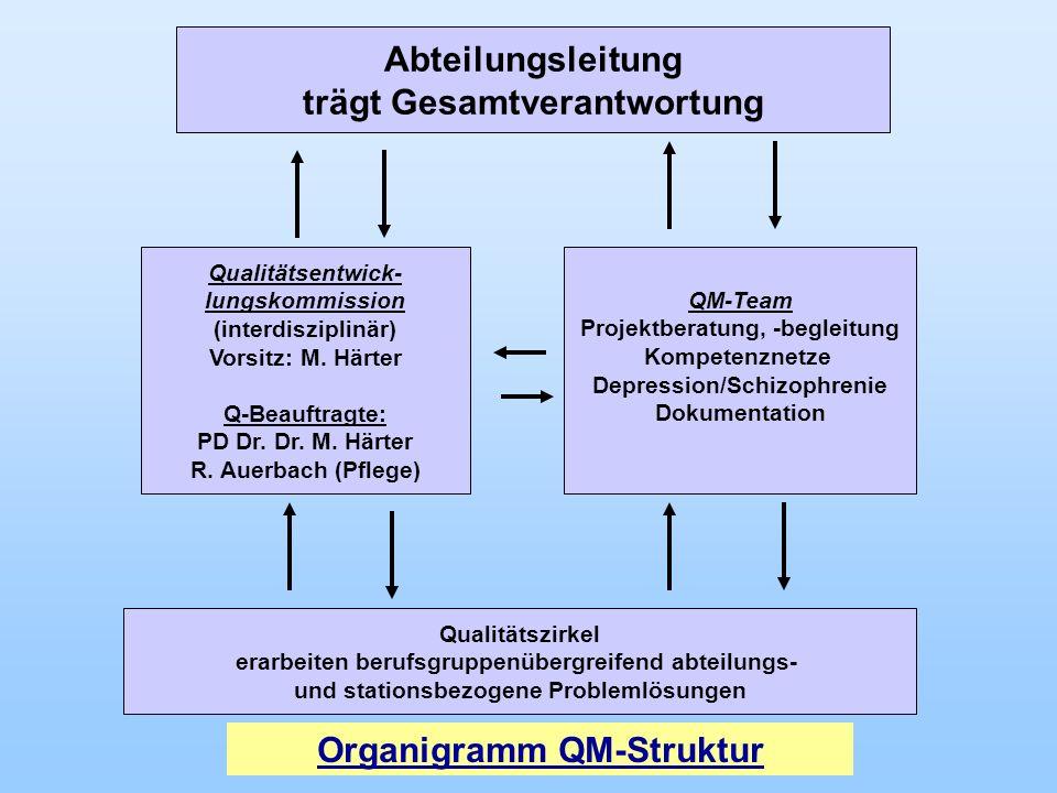 Abteilungsleitung trägt Gesamtverantwortung Organigramm QM-Struktur