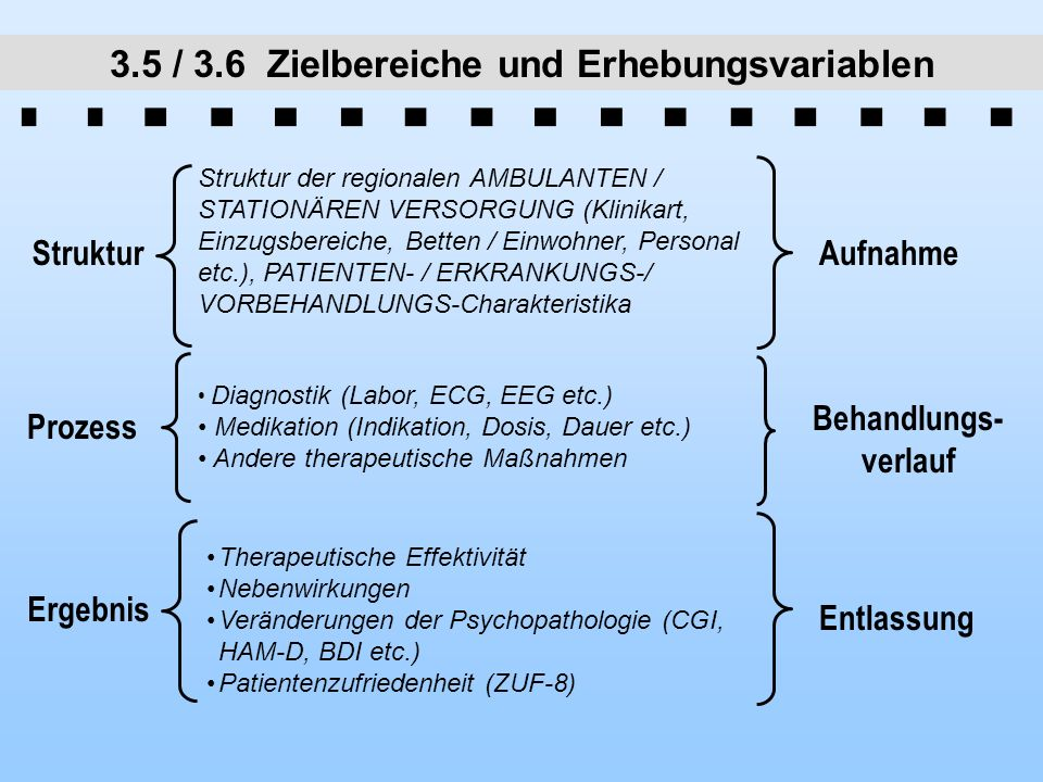 3.5 / 3.6 Zielbereiche und Erhebungsvariablen