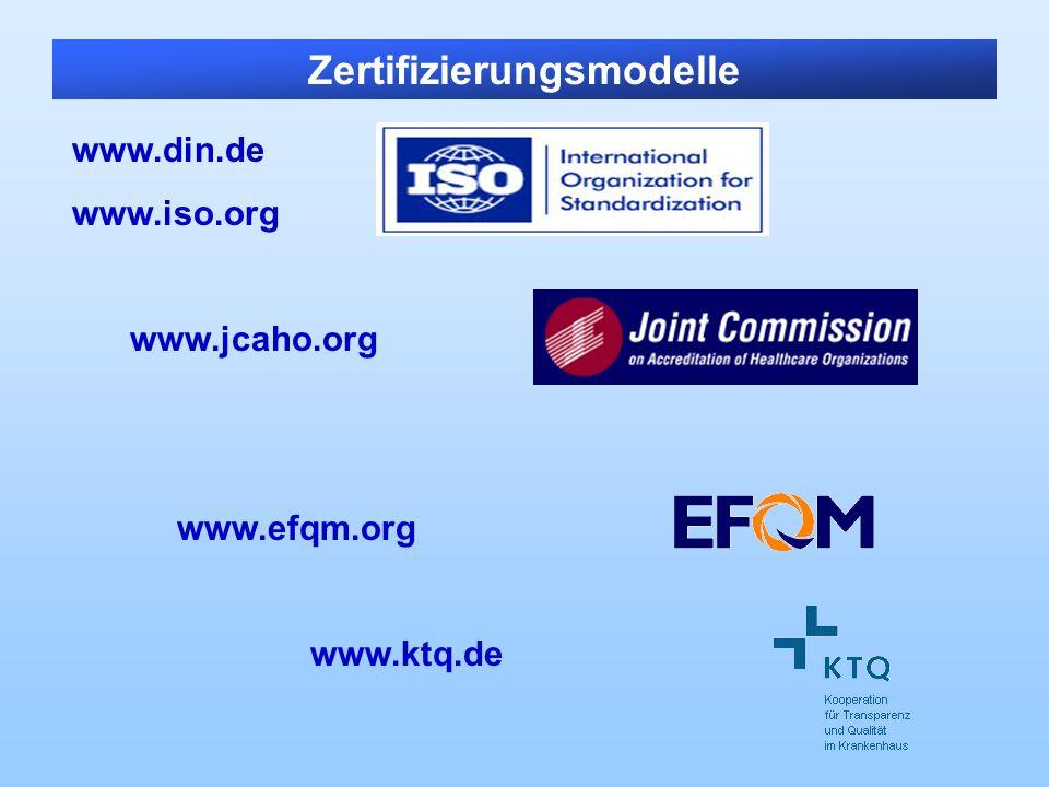 Zertifizierungsmodelle