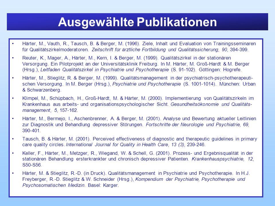 Ausgewählte Publikationen