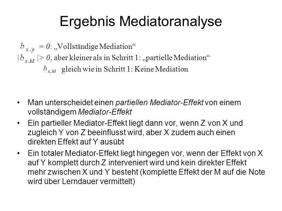 Ergebnis Mediatoranalyse