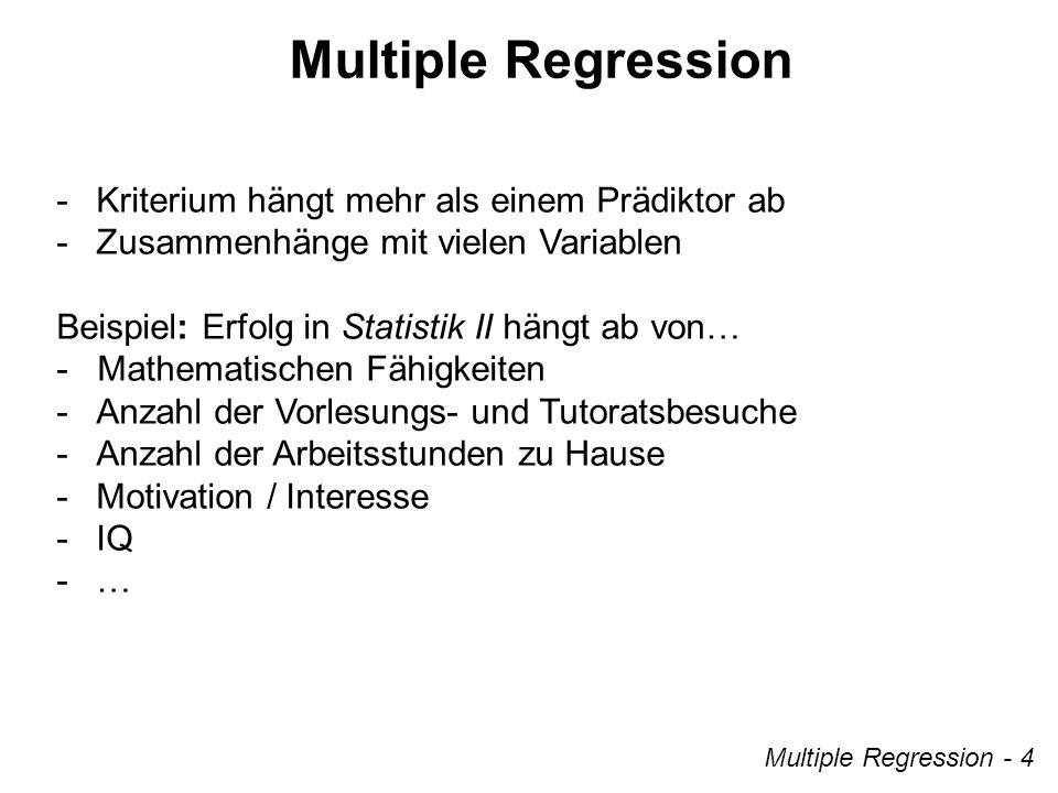 Multiple Regression - Kriterium hängt mehr als einem Prädiktor ab