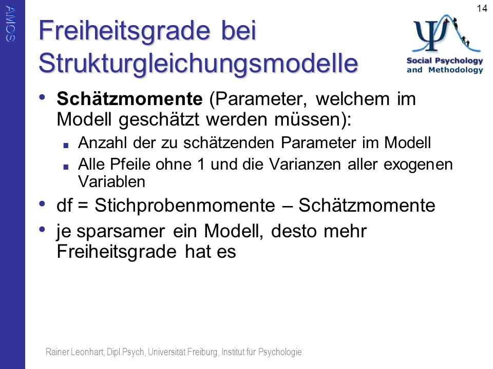 Freiheitsgrade bei Strukturgleichungsmodelle