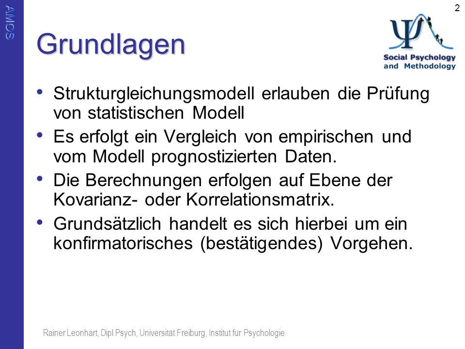 Grundlagen Strukturgleichungsmodell erlauben die Prüfung von statistischen Modell.
