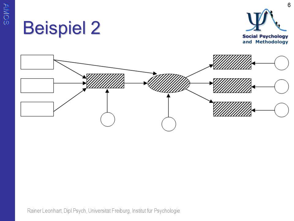 Beispiel 2 Rainer Leonhart, Dipl.Psych, Universität Freiburg, Institut für Psychologie